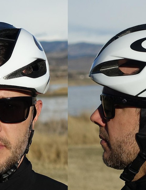 Oakley's Aro5 is an impressive first aero road helmet from the California-based eyewear firm. It's comfortable, ventilates well,and features a distinctive rounded profile