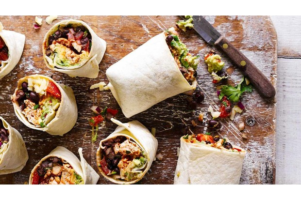 Make your colleagues jealous with these tasty chicken burritos