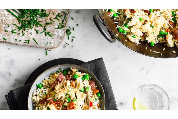 Use up your leftovers with this tasty bacon and egg fried rice