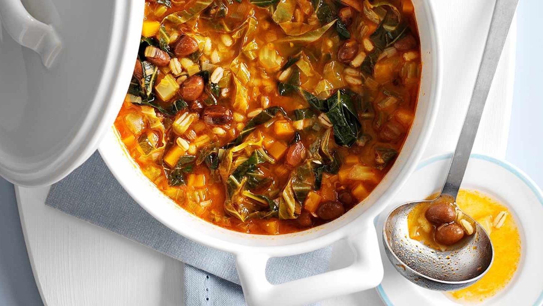 Plenty of vegetarian protein in this tasty stew