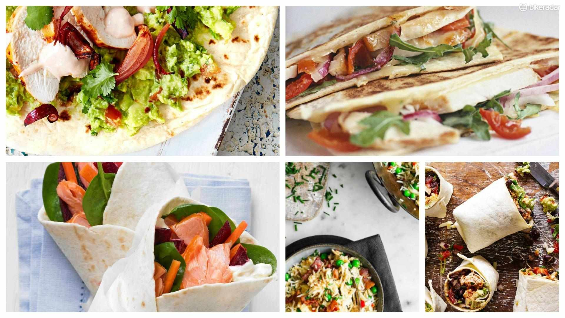 Delicious lunchtime dishes