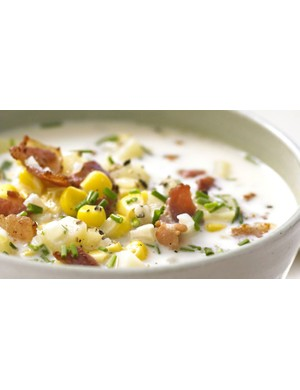 You can use fresh or tinned sweetcorn to make this satisfying chowder