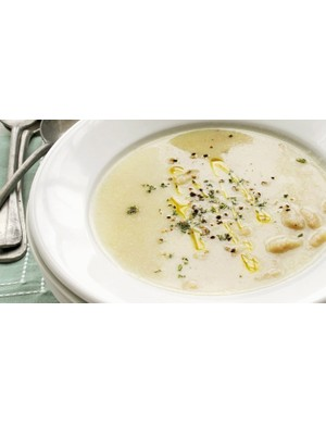 Creamy cauliflower and protein-rich cannellini beans combine to make this delicious soup