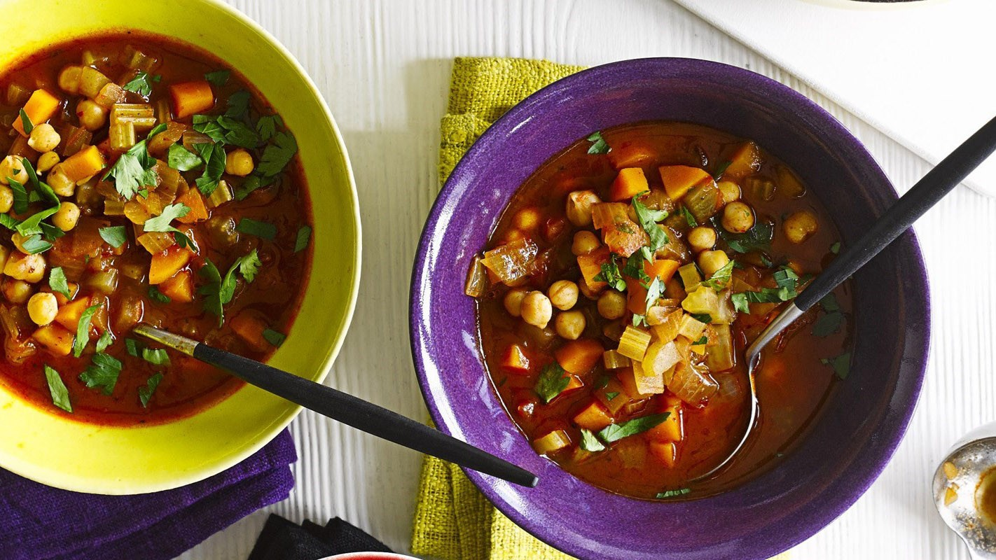 Harrisa paste gives this soup a fiery kick