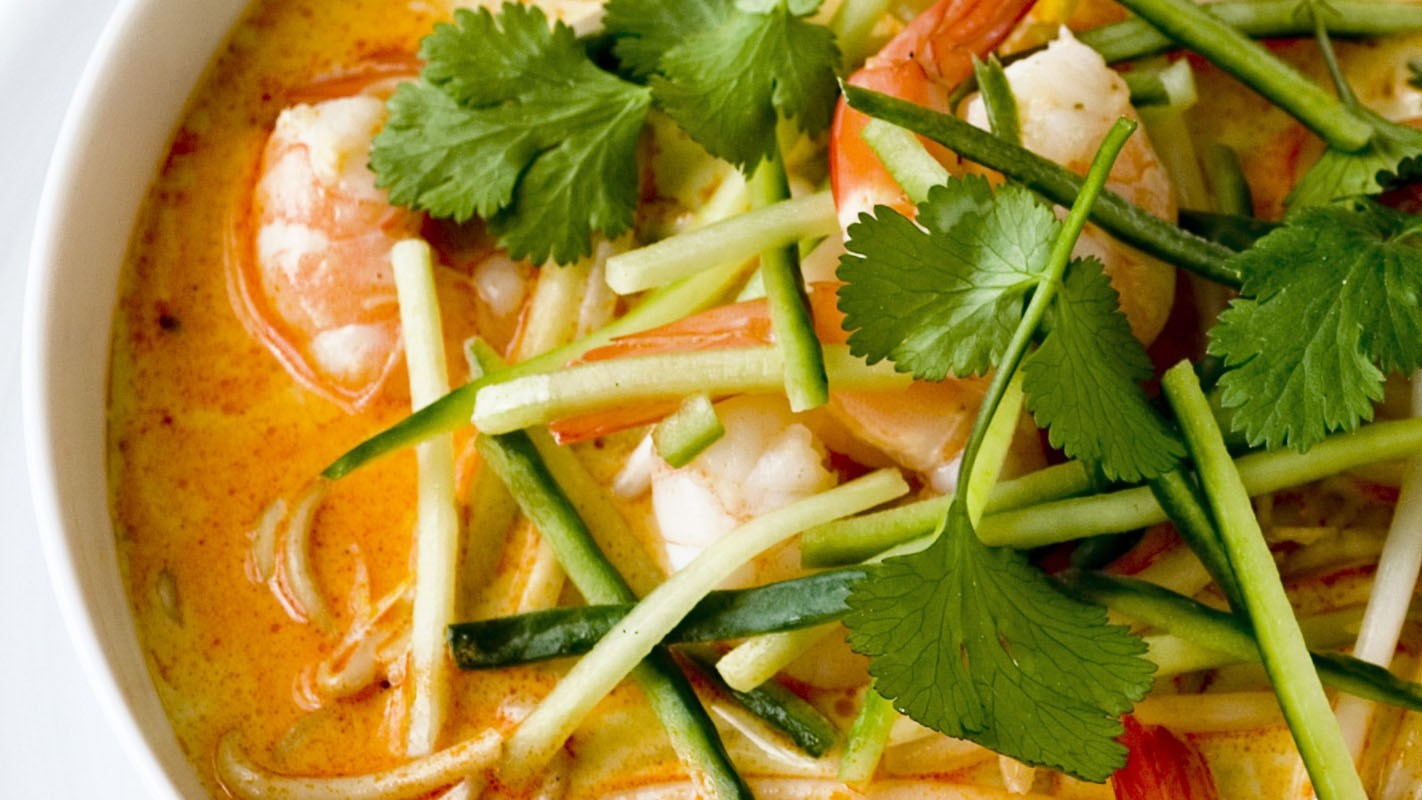 Fresh coriander cuts through creamy coconut with rich spices in this delicious Malaysian laksa