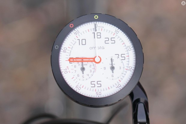The Omata One has offer a unique analog display for four ride metrics