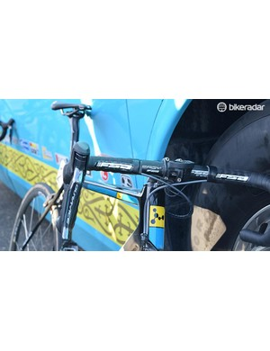 FSA provides Astana with the majority of the finishing kit, including the Energy handlebars