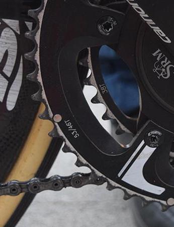 Vanmarcke opted for 53/38 chainrings