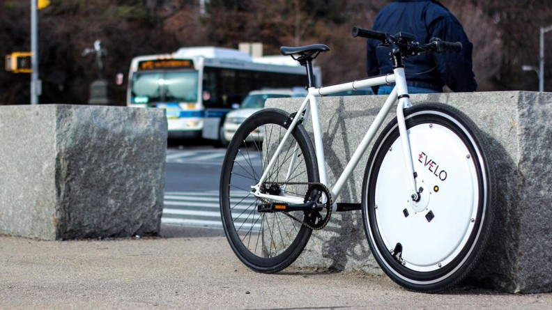 The Omni Wheel can be easily swapped in to replace your front wheel
