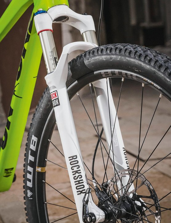 RockShox' Reba fork uses the same chassis as the race-branded SID, keeping weight down