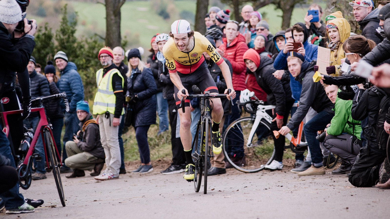 On the edge at the National Hill Climb Championships