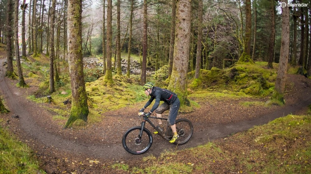The ability to blast the sweeping singletrack corners of Fort Bill was a definite Plus on the Open