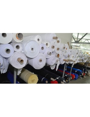One roll of each type of commonly used fabric is kept in the cutting room. This lot will last 1-2 weeks
