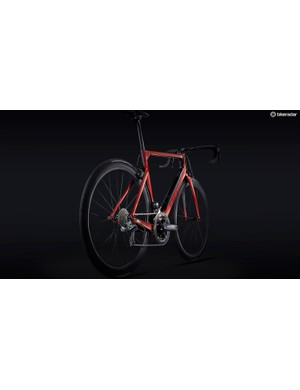 The frameset also features a unique split down tube design, again claiming to improve aerodynamics