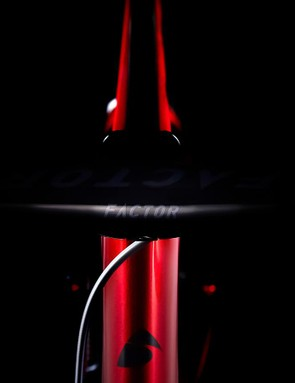 Along with the frameset, Factor has launched an integrated stem and handlebar system that allows internal cable routing