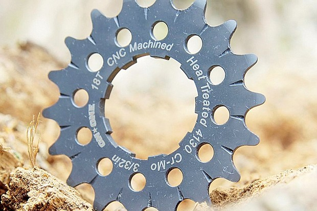 These sprockets come in a choice of five sizes.