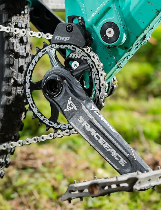 The small 30t chainring helps winch your way up the steeps