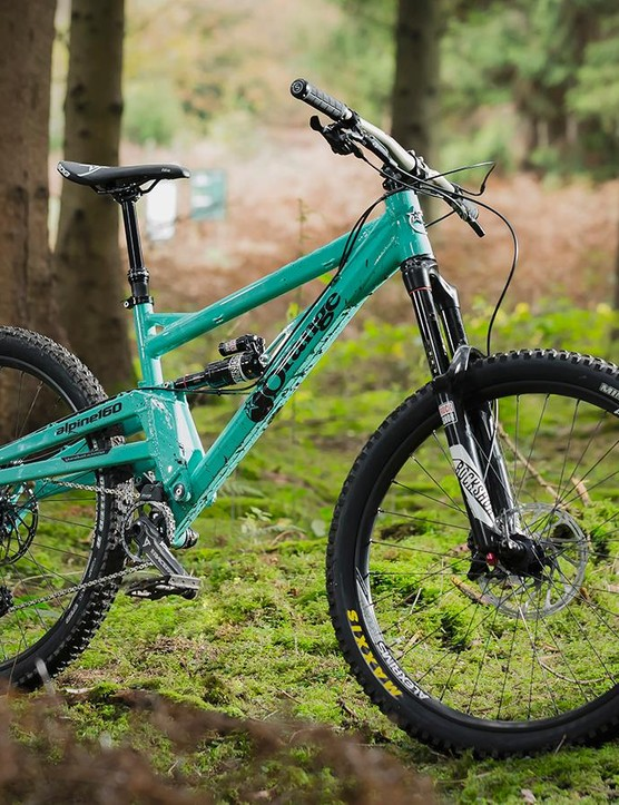 The new Alpine 160 is longer and rolls on 650b wheels