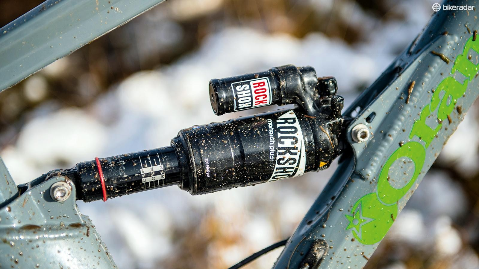 There's no lockout on the Monarch Plus Debonair rear shock