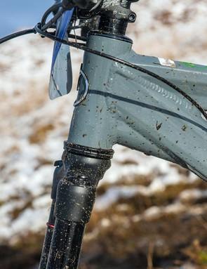 The low bar undermines confidence on steep terrain