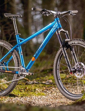 The 'Heavy Duty' WTB rear tyre wards off impact punctures caused by the lack of suspension but makes the ride more wooden