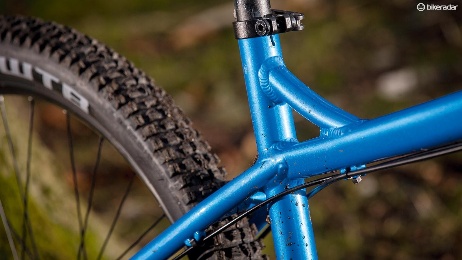 The burly alloy frame is stiff but not overly harsh