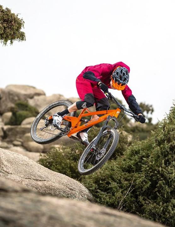 The Orange Five S custom inspires rowdy riding