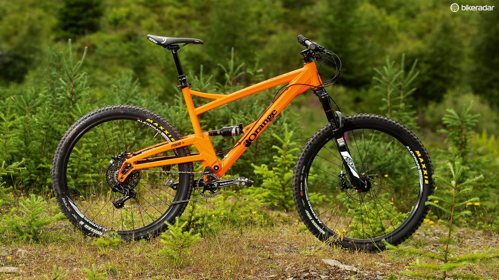 Leaner and lighter than the Five, the Four is Orange's new all-rounder trail bike