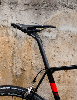 The racy Selle Italia SLR Kit Carbonio isn't a very cushy perch, but it certainly is light