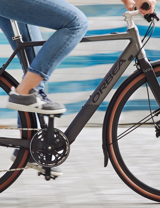 The Gain city bikes also look like normal, non-pedal-assist machines
