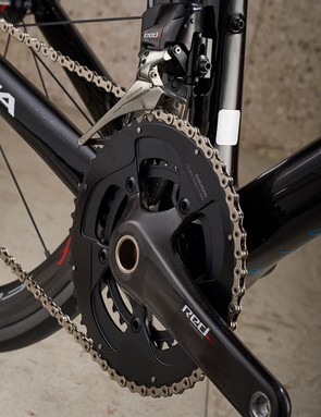 Completing the groupset is SRAM Red eTap gearing
