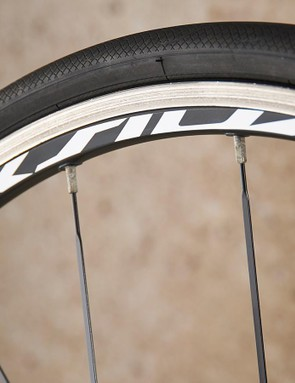 The Mavic Aksium wheels are a modest, yet still dependable, choice