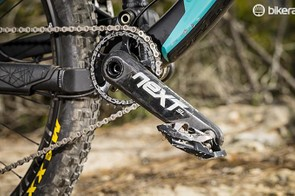 We reckon switching to a slightly larger chainring, thus adjusting the chainline, might help the rear suspension performance