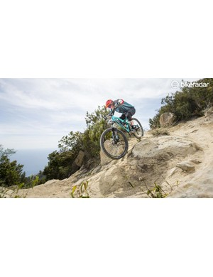 The longish seat tube can sometimes lead the Rallon to feel tall and top-heavy