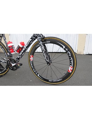 FSA's sister company Vision provides wheels for Cofidis, with Soupe on Metron 55s