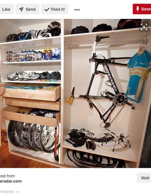 We can only aspire to this level of bike kit organisation