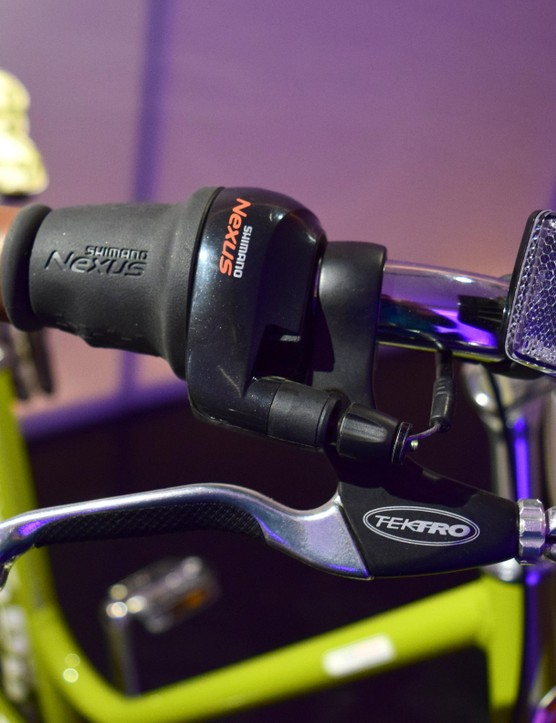 Shimano Nexus grip-shift shifters and Tektro brakes