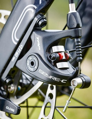 The Spyre mechanically actuated disc brakes proved to be very effective