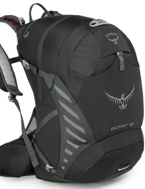The Osprey Escapist 32 — perfect for the cyclist who most definitely doesn't travel light