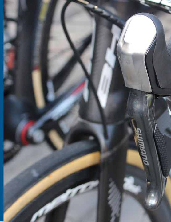 Are the backs of brake levers the best place to shift a bike?