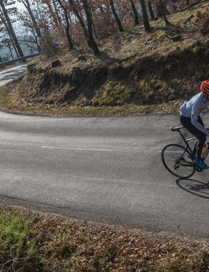 The second day of riding was on the roads outside Ladoux, a winding, hilly area perfect for tire evaluation