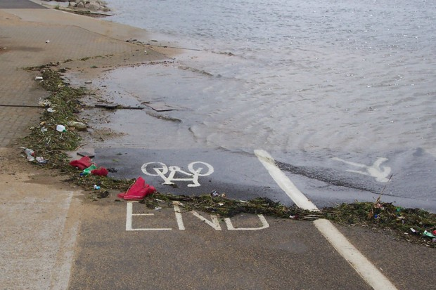 Fancy a swim? This bike path in Poole, Dorset thinks you might be a triathlete