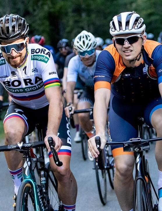 I rode the Rudy Project Tralyx sunglasses at the Sagan Fondo