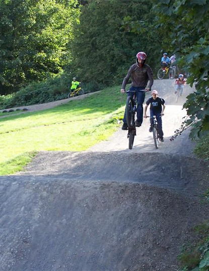 The good thing about buying a bike that was two sizes too small was that it could blend in at a BMX track, sort of