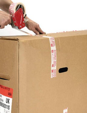 If you're using a cardboard box, make sure to tape it up securely