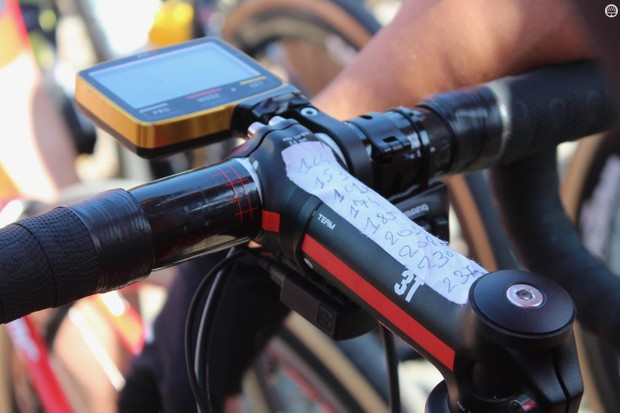 Van Avermaet opts for an old-school method of marking the key sectors