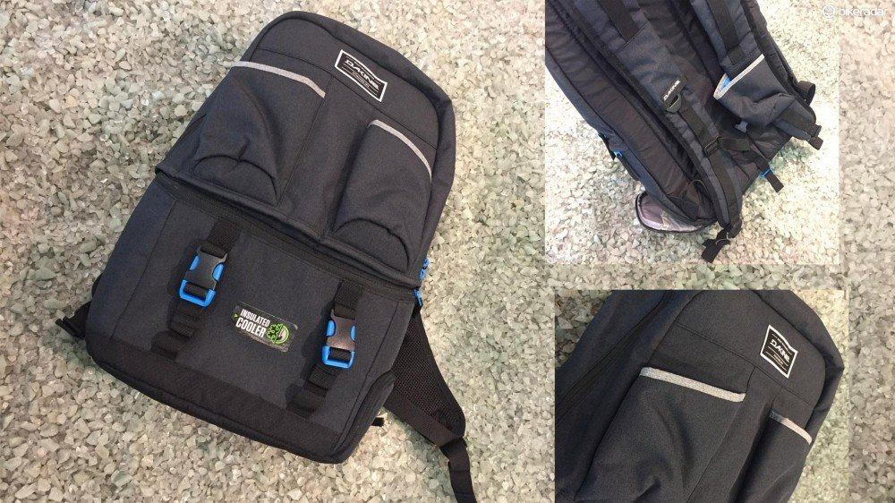 As well as chiller bag section, there are three external pockets for popping your drinks in