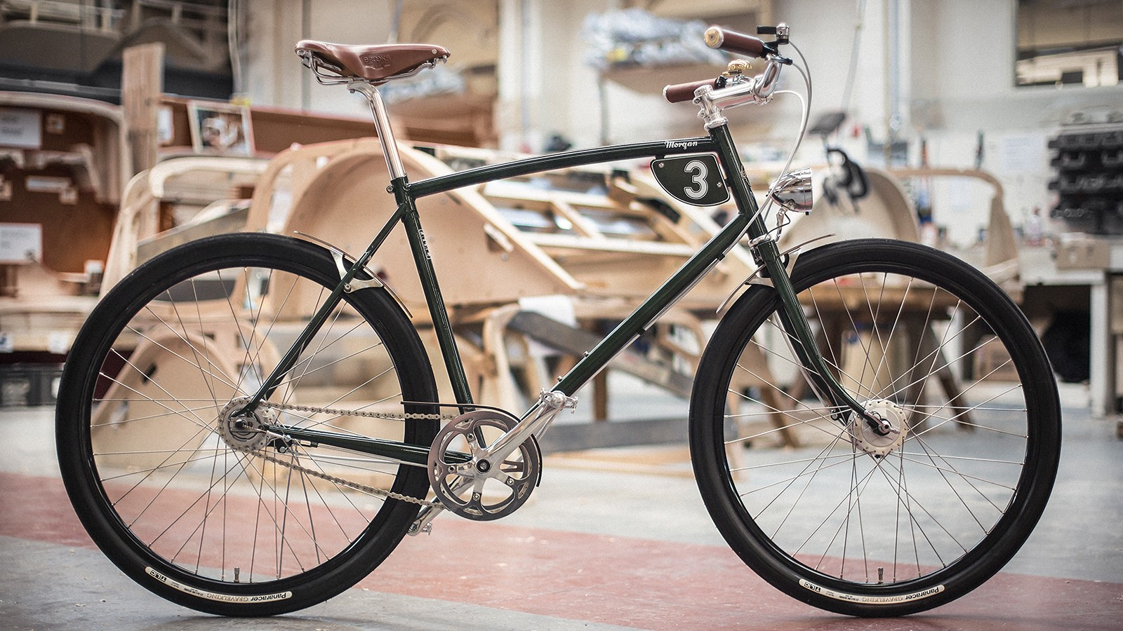 749ba925982 The British Racing Green Pashley-Morgan 3 features a Reynolds 631 chromoly  frame and a