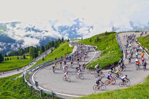 Sella Pass is one of the stunning highlights of Maratona dles Dolomites