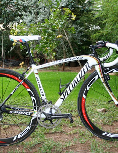 Paolo Bettini's Specialized S-Works Tarmac SL2 has a special paint job